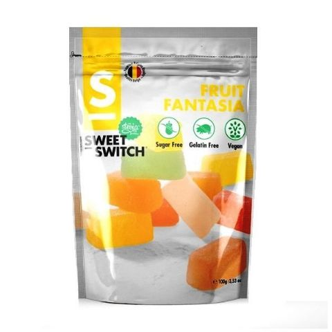 Fruit Fantasia No Added Sugar Free Vegan Stevia SWEET SWITCH 100g